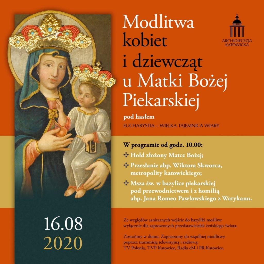 Grafika_Pielgrzymka kobiet do Piekar Śląskich_2020